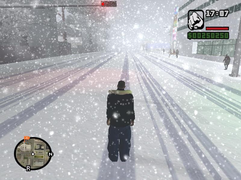 скачать мод для Gta San Andreas зимовка - фото 2
