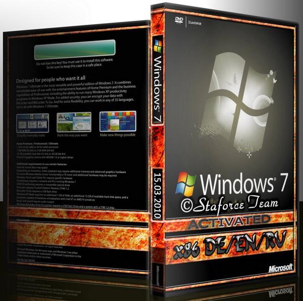 Образ основан на финальной версии Windows 7 (Build 7600) x86 (32-Bit